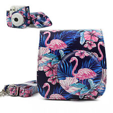 For Fujifilm Instax Mini 8 9 Camera Carrying Case Cover Shell Bag Flamingo Black