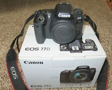 Canon 77D body mint condition with box.