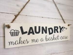 Laundry room sign/Laundry sign/Laundry makes me a basket case/funny laundry sign