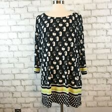 Tribal Women's Black & White Scoopneck Tunic Top Shirt Size XL Extra Large