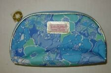 Lilly Pulitzer For Estee Lauder Blue Floral Butterfly Makeup Cosmetic Case Bag