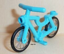 Lego 4719c02 Bicycle, Complete Assembly Medium Blue Vélo Bleu Friends MOC neuf