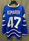 Leo Komarov #47 Signed Maple Leafs Jersey Autograph Sz XL DACardworld COA