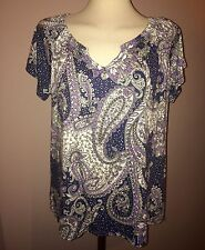 Paisley Classic Casual Regular Size Tops & Shirts for Women