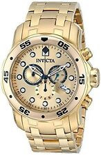 Invicta Men's 0074 Pro Diver Gold & Gold Dial Swiss Watch Authorized Retailer