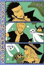 One Piece YAOI Doujinshi ( Mihawk x Zoro ) Shikkearu de tsukamaete 5