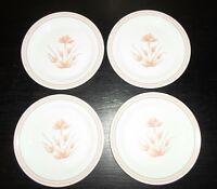"""(4) Corelle PEACH FLORAL  7 1/4"""" Salad Plates"""