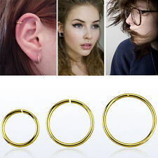 1-4 Segment Rings 16G-22G Nose Tragus Ear Piercing Seamless Hoop Sterling Silver