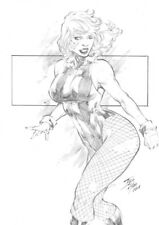 Black Canary by Iago Maia Original Art Commission Sketch 8.5x11 Ed Benes School
