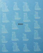 Accessoire ongles : nail art - Stickers décalcomanie - motifs bateaux blancs