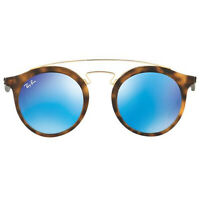 Ray-Ban Gatsby Blue Mirrored Sunglasses Tortoise RB4256 609255 46