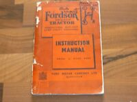 FORDSON MAJOR TRACTOR original 1951 Instruction Service Manual Betriebsanleitung