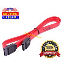 "18"" SATA 3.0 Cable SATA3 III 6GB/s Right Angle Serial ATA SSD Hard Drive, Red"