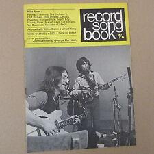 magazine RECORD SONG BOOK john lennon george harrison