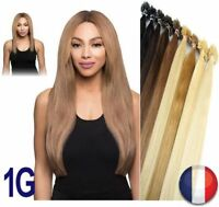 25 50 75 125 EXTENSION DE CHEVEUX POSE A CHAUD 100% NATUREL REMY HAIR 49-60CM 1G