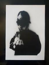 "Banksy Dismaland hand Sprayed ""Rude copper"" & C. O. A"
