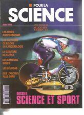 POUR LA SCIENCE N°225 SCIENCE ET SPORT / MINES ANTIPERSONNEL /CEINTURE DE KUIPER