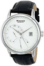 Rudiger Men's R2700-04-001 Aachen 24 Hour Display Black Leather Date Watch