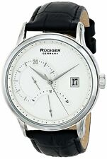 Rudiger Men's R2700-04-001 Aachen 24 Hour Display Black Leather Date Watch