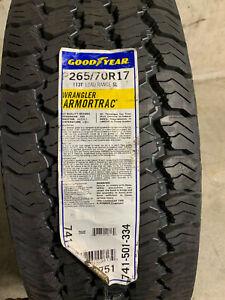 1 New P 265 70 17 Goodyear Wrangler Armor Trac Tire