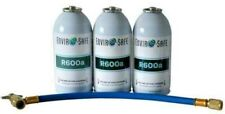 600a, R600 Refrigerant, Enviro-Safe R-600 (3) 6 oz cans with hose kit #8051