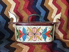 Norwegian Wood Tine Box Rosemaling- Scandinavian Folk Art