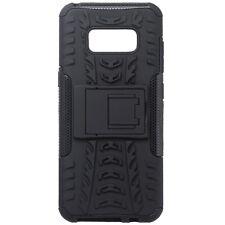 Voor Samsung Galaxy S8 Hybrid Armor Shockproof Heavy Duty Stand Case Cover Zwart