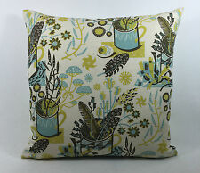 "St Jude's Nature Table - Bark/Blue Sky Cushion Cover  - By Angie Lewin 17""x17"""