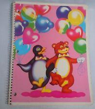 Lisa Frank Spiral Notebook Vintage 80s Penguin Bear Balloons Fantastic World NOS