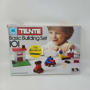 Vintage 1978 Tente Hasbro Basic Building Set 101 *INCOMPLETE*