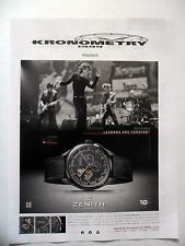 PUBLICITE-ADVERTISING :  ZENITH El Primero  Rolling Stones (01)  2015 Kronometry