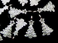 12 x Tibetan Silver  Christmas Tree Charms Xmas Pendant Festive E133