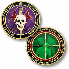 Cascadia Quarantine Zone / Commander's Award - Zombie Command Challenge Coin
