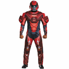 MENS HALO SPARTAN LOCKE COSTUME DELUXE MUSCLE CHEST ADULT COSPLAY Red XL