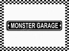 (SA-1268) Monster Garage Street Sign 3×18 Metal Plaque