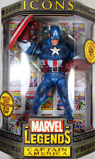 "Marvel Legends Icons ~ 12"" CAPTAIN AMERICA (MASKED) ACTION FIGURE ~ Toy Biz"