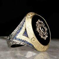Turkish 925 Sterling Silver Wonderful black onyx stone men man ring ALL SİZE us