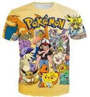 New Fashion Women/Mens Funny Cartoon Pokemon Casual 3D Print T-Shirt YT206