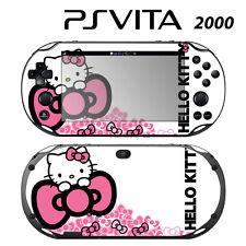 Vinyl Decal Skin Sticker for Sony PS Vita Slim 2000 Cute Kitty Pink Bow Princess