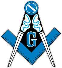 "Freemasonry Masonic Sign Car Bumper Window Tool Box Sticker Decal 4""X5"""