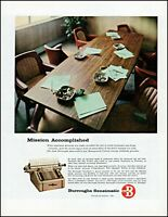 1958 Office conference room Burroughs Sensimatic vintage photo print ad adl78