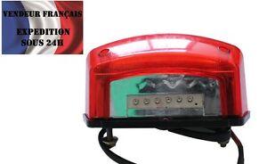 Feux Arrière plat rouge moto à LED, VENDEUR FRANCAIS