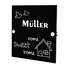 Plexiglas Acryltafel Türschild inkl. Gravur Motiv home sweet home