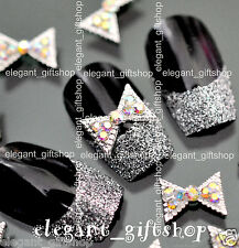 10pcs Nail Art Decoration Bow Tie Alloy Jewelry  Glitter Rhinestone #EA030