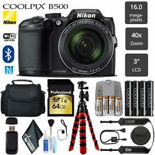 Nikon Coolpix 64GB B500 16mp 40x Built-in Wi-fi Digital Camera - Black