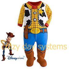 Disney Store Woody Stretchie Costume Pajamas 3/6 M Toy Story Play Set Baby Boys