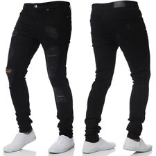 637d42f5645 Men Stretch Ripped Skinny Jeans Distressed Frayed Slim Fit Biker Denim Pants  3XL