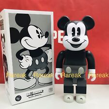Medicom Be@rbrick 2018 Disney 400% Mickey Mouse Vintage B&W VER. BEARBRICK 1pc