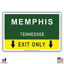 Memphis, Tennessee Highway Exit Novelty State City Aluminum Metal Sign