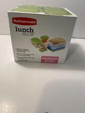"Rubbermaid 1806231 Lunch Box Sandwich Kit, 4.81"" x 5.63"" x 5.25"""